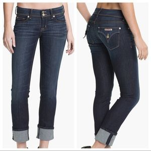 Hudson Ginny Crop Straight Jeans with Cuff